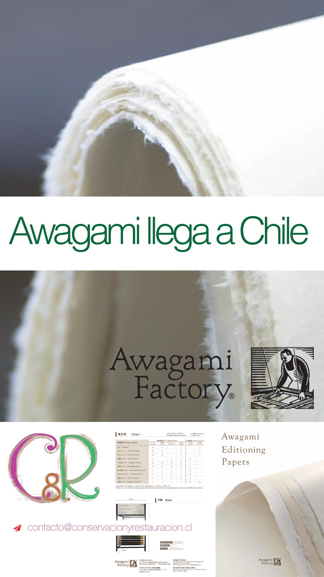 Papeles Awagami en Chile