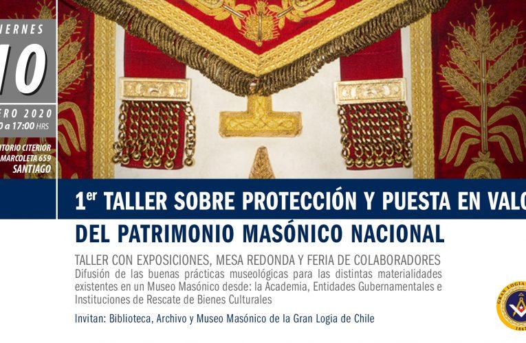 1º Taller sobre protección y puesta en valor del Patrimonio Masónico Nacional