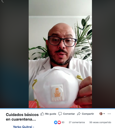 Yerko Quitral: Cuidados básicos en cuarentena Covid19